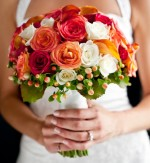 Colourful Bouquet Wedding Flowers