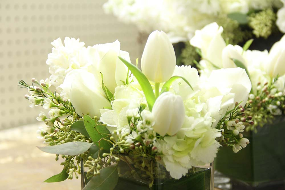 White Flowers For Sympathy