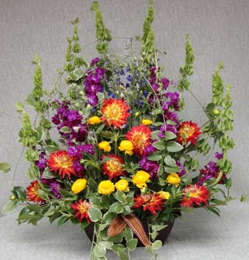 Colourful Flowers Funeral