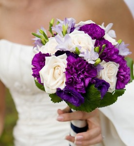 Delightful Purple Wedding Bouquets