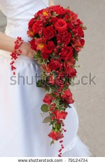 Angelic Red Rose Wedding Bouquet