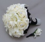 White Silk Flower Bouquets