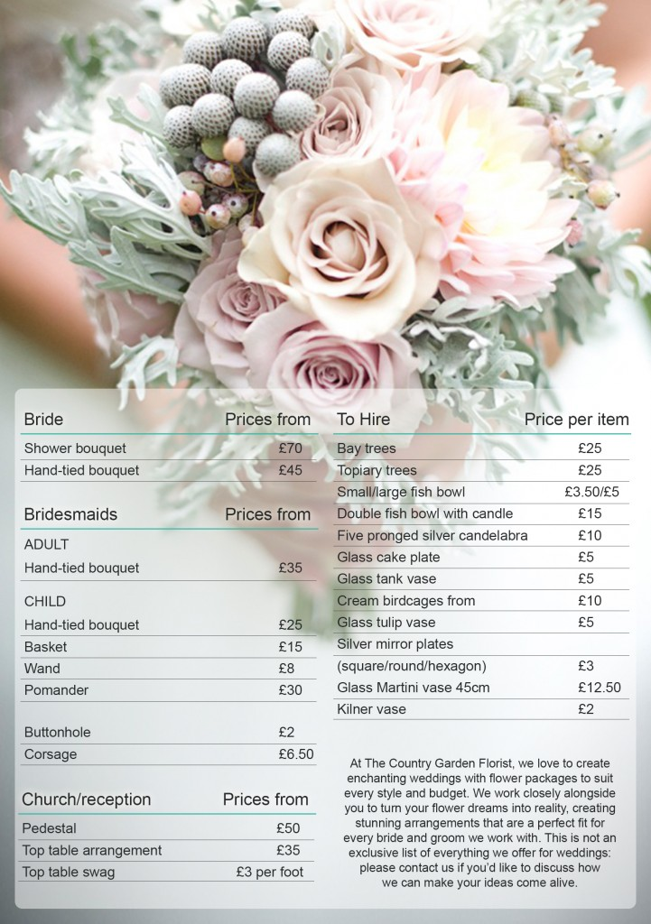 Great Wedding Bouquet Prices 2016