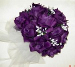 Purple Wedding Bouquets Silk